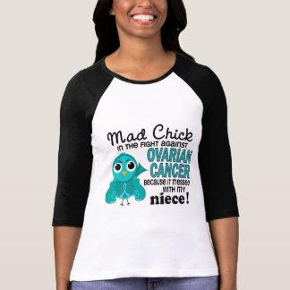 Cáncer ovárico de la sobrina enojada del polluelo  camiseta