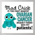 Cáncer ovárico de los pacientes enojados del pollu posters