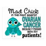 Cáncer ovárico de los pacientes enojados del pollu postales