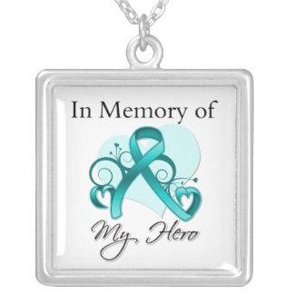Cáncer ovárico - en memoria de mi héroe collares personalizados