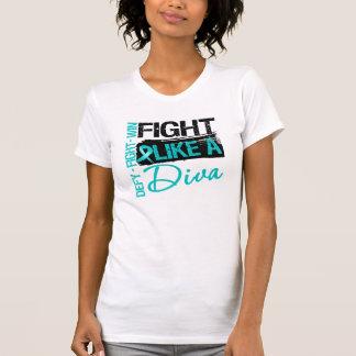 Cáncer ovárico - lucha como una diva camiseta