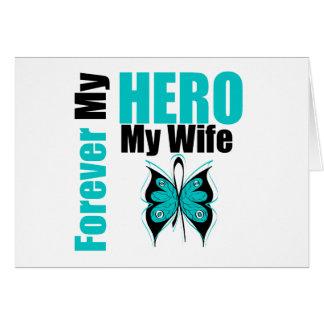 Cáncer ovárico para siempre mi héroe mi esposa felicitacion