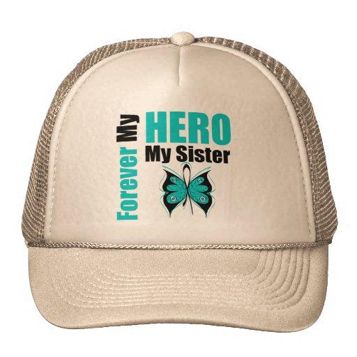Cáncer ovárico para siempre mi héroe mi hermana gorra