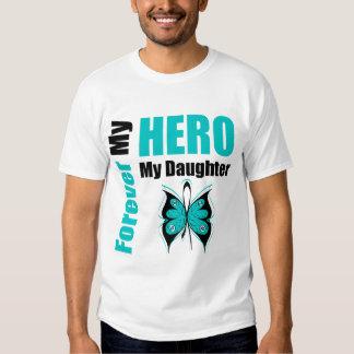 Cáncer ovárico para siempre mi héroe mi hija polera