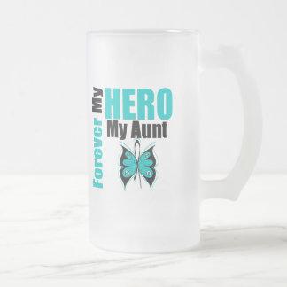 Cáncer ovárico para siempre mi héroe mi tía taza