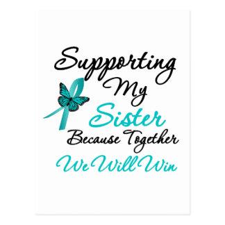Cáncer ovárico que apoya a mi hermana postales