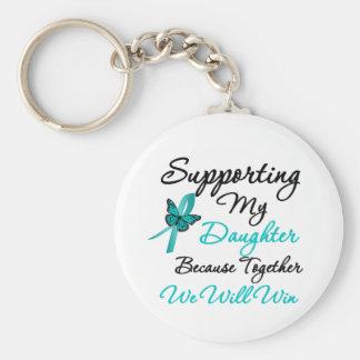Cáncer ovárico que apoya a mi hija llavero personalizado