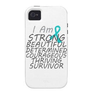 Cáncer ovárico soy superviviente fuerte vibe iPhone 4 funda