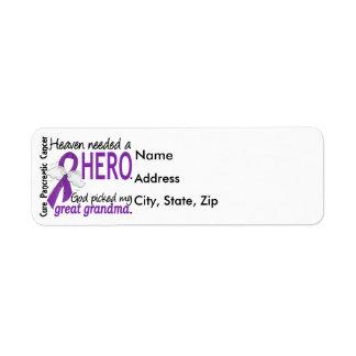 Cáncer pancreático abuela necesaria del héroe del etiqueta de remite