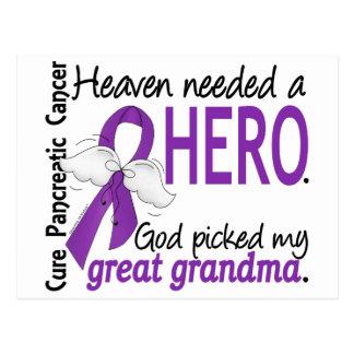 Cáncer pancreático abuela necesaria del héroe del postal