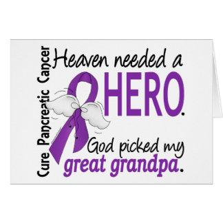 Cáncer pancreático abuelo necesario del héroe del tarjeta de felicitación