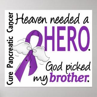 Cáncer pancreático de Brother del héroe necesario Póster