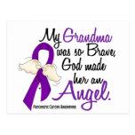Cáncer pancreático de la abuela del ángel 2 tarjetas postales