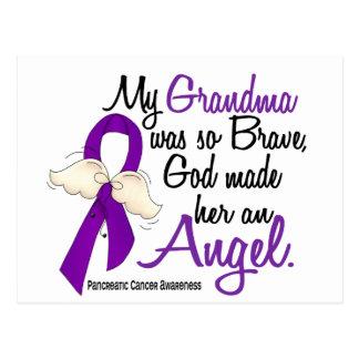 Cáncer pancreático de la abuela del ángel 2 tarjeta postal