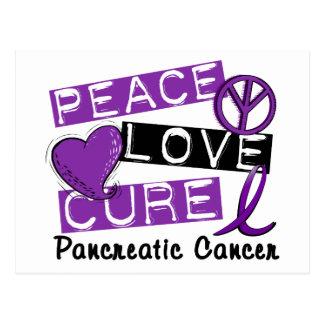 Cáncer pancreático de la curación del amor de la p postal