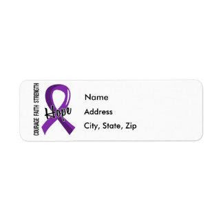 Cáncer pancreático de la esperanza 5 de la fe del etiqueta de remite