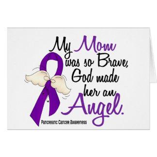 Cáncer pancreático de la mamá del ángel 2 tarjeta de felicitación
