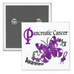 Cáncer pancreático de la mariposa 2 del vitral pins
