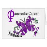 Cáncer pancreático de la mariposa 2 del vitral felicitacion