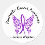 Cáncer pancreático de la mariposa 6,1 del tatuaje  pegatina redonda