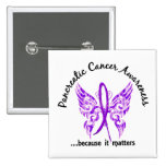 Cáncer pancreático de la mariposa 6,1 del tatuaje  pins
