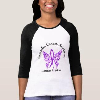 Cáncer pancreático de la mariposa 6,1 del tatuaje playera