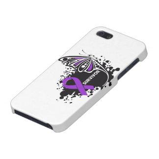 Cáncer pancreático de la mariposa abstracta del su iPhone 5 carcasas