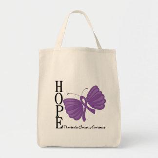 Cáncer pancreático de la mariposa de la esperanza bolsas de mano
