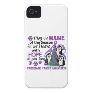 Cáncer pancreático de los pingüinos del navidad iPhone 4 Case-Mate fundas