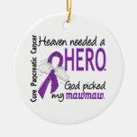 Cáncer pancreático de MawMaw del héroe necesario d Ornamento Para Arbol De Navidad