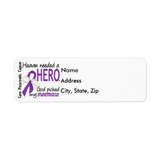 Cáncer pancreático de MeeMaw del héroe necesario Etiqueta De Remite