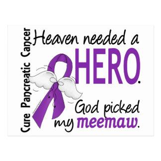 Cáncer pancreático de MeeMaw del héroe necesario Postal