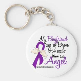 Cáncer pancreático del novio del ángel 2 llavero redondo tipo pin