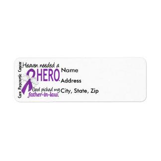 Cáncer pancreático del suegro necesario del héroe etiqueta de remitente