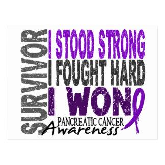 Cáncer pancreático del superviviente 4 tarjetas postales