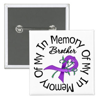 Cáncer pancreático en memoria de mi Brother Pin Cuadrado