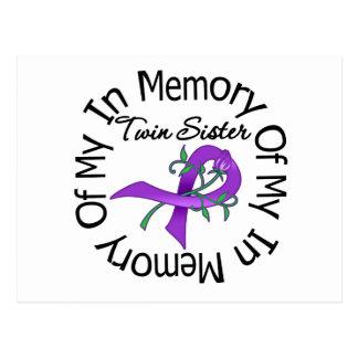 Cáncer pancreático en memoria de mi hermana gemela tarjetas postales