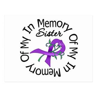 Cáncer pancreático en memoria de mi hermana tarjetas postales
