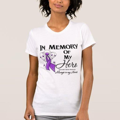 Cáncer pancreático en memoria de mi héroe t shirts