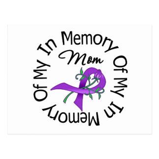 Cáncer pancreático en memoria de mi mamá tarjeta postal