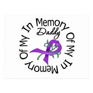 Cáncer pancreático en memoria de mi papá tarjeta postal