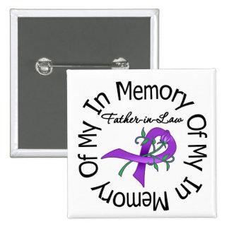 Cáncer pancreático en memoria de mi suegro pin cuadrado