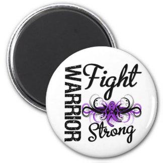 Cáncer pancreático fuerte de la lucha del guerrero imán redondo 5 cm