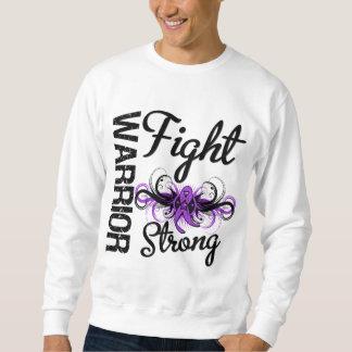 Cáncer pancreático fuerte de la lucha del guerrero pulovers sudaderas