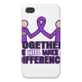 Cáncer pancreático juntos haremos un Differen iPhone 4/4S Funda