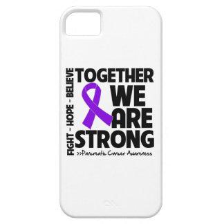 Cáncer pancreático juntos somos fuertes iPhone 5 carcasa