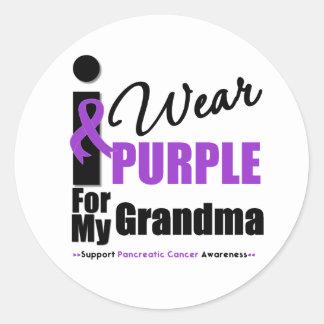 Cáncer pancreático llevo a la abuela púrpura de la etiqueta redonda