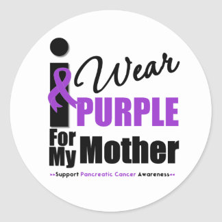 Cáncer pancreático llevo a la madre púrpura de la etiqueta redonda