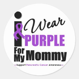 Cáncer pancreático llevo a la mamá púrpura de la pegatina redonda