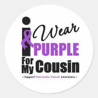 Cáncer pancreático llevo al primo púrpura de la etiqueta redonda